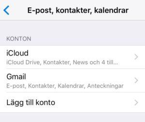 synka kontakter på iphone