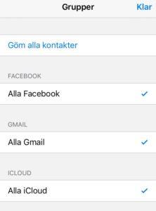 importera kontakter iphone